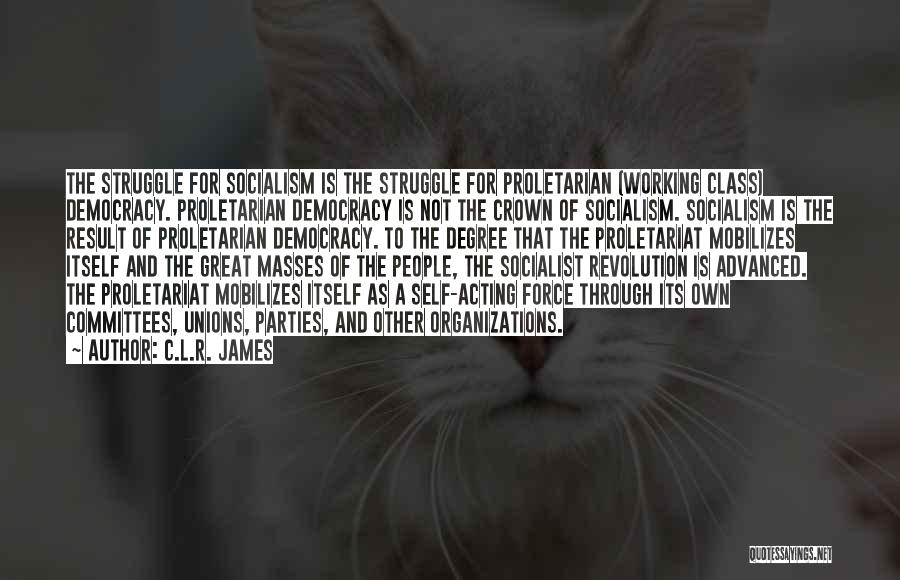 Great Socialist Quotes By C.L.R. James
