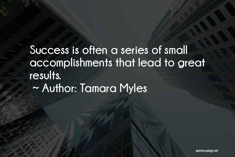 Great Success Motivational Quotes By Tamara Myles
