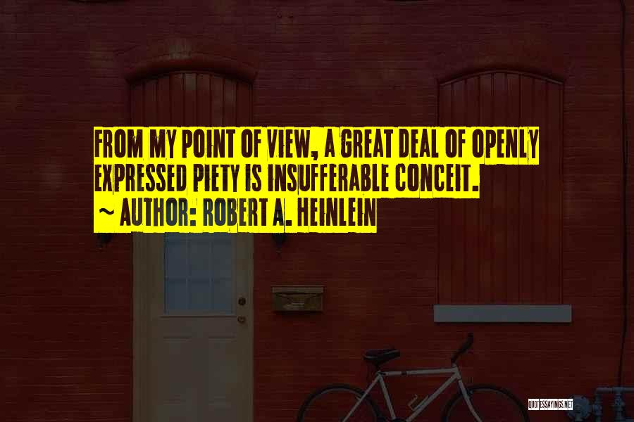 Great View Quotes By Robert A. Heinlein