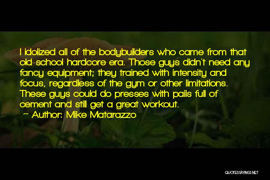 Great Workout Quotes By Mike Matarazzo