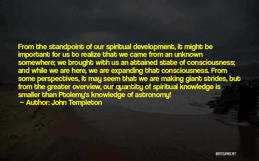 Greater Than Quotes By John Templeton