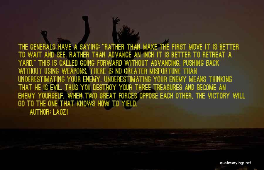 Greater Than Yourself Quotes By Laozi