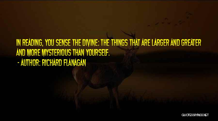 Greater Than Yourself Quotes By Richard Flanagan