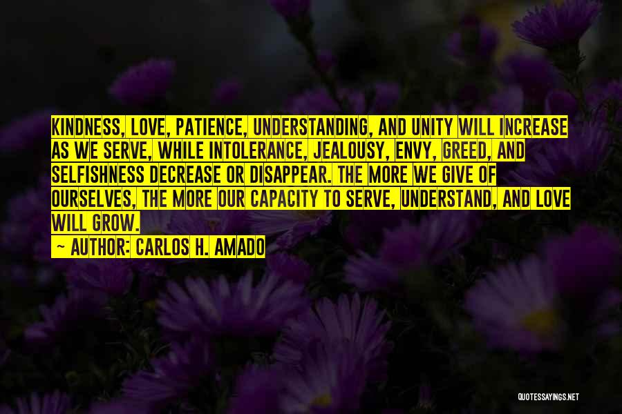 Greed And Selfishness Quotes By CARLOS H. AMADO