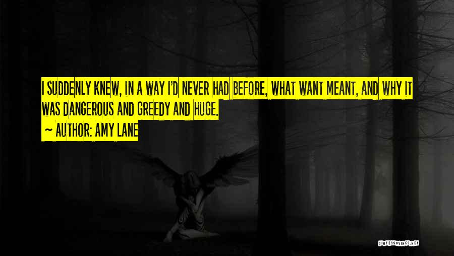Greedy Quotes By Amy Lane