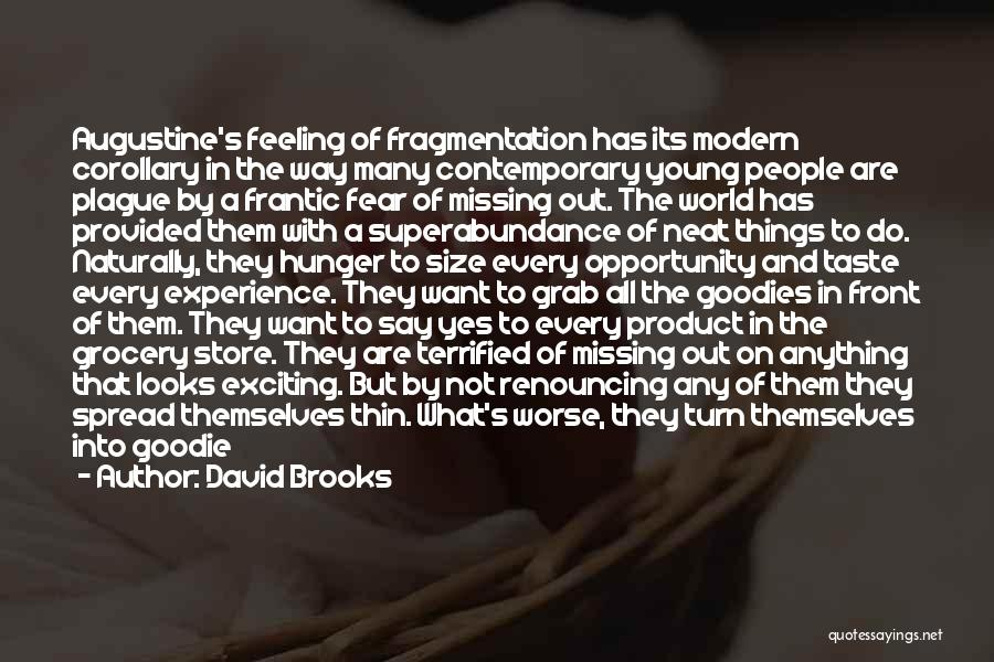 Greedy Quotes By David Brooks