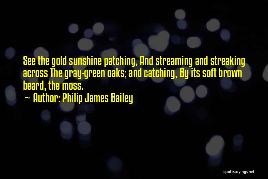 Green Moss Quotes By Philip James Bailey