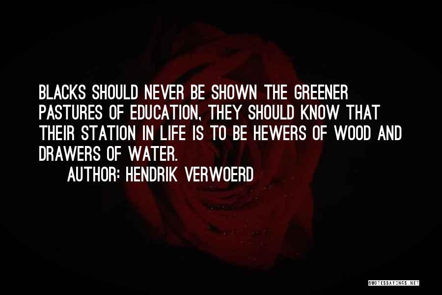 Greener Pastures Quotes By Hendrik Verwoerd