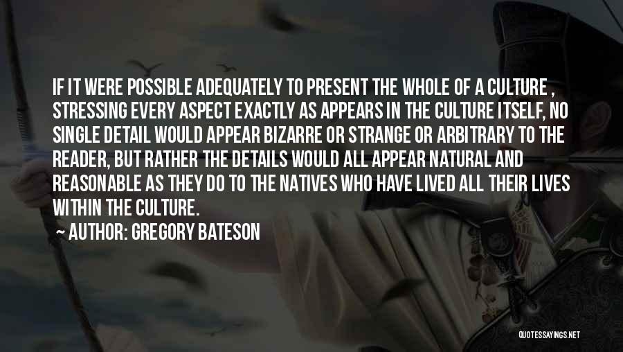 Gregory Bateson Quotes 1863521