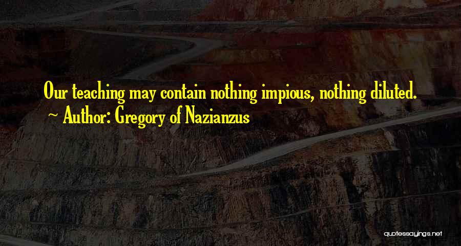 Gregory Of Nazianzus Quotes 1098299