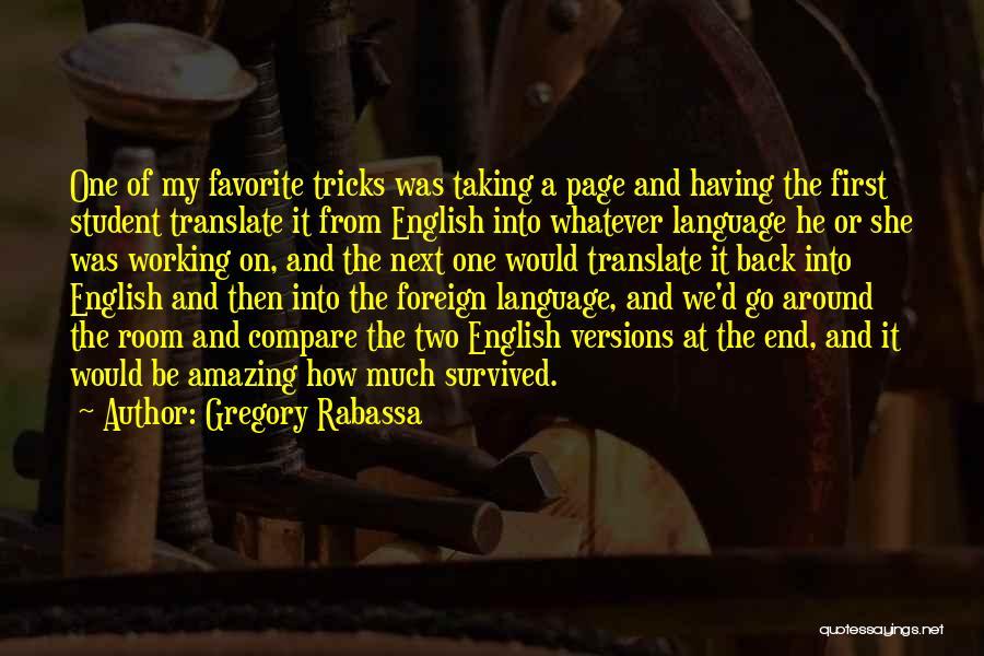 Gregory Rabassa Quotes 1982796