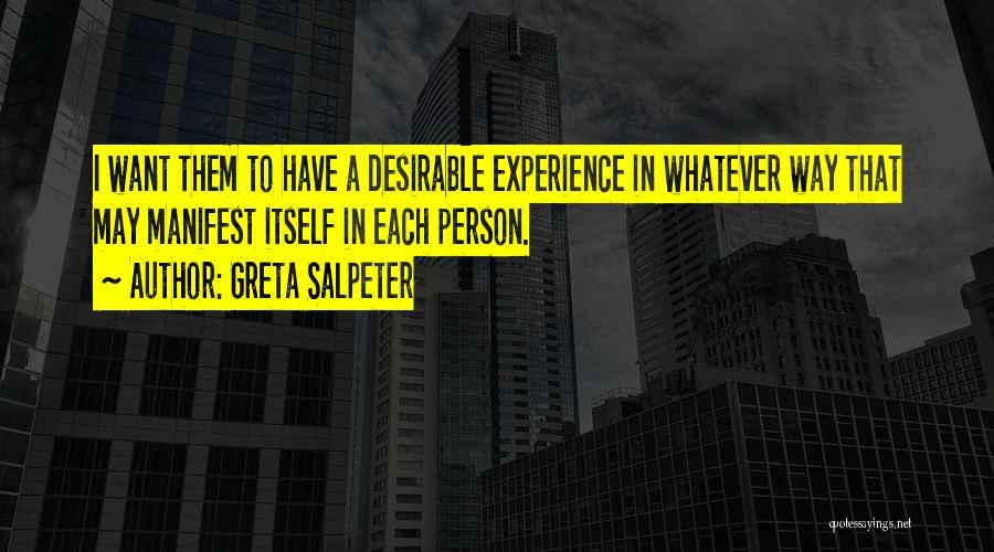 Greta Salpeter Quotes 1683533