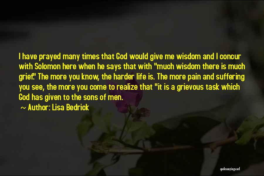 Grief And God Quotes By Lisa Bedrick