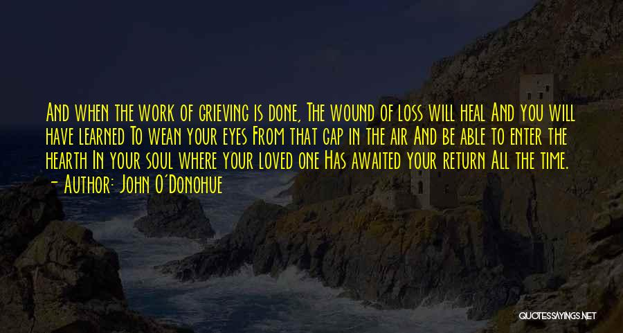 Grieving Loss Quotes By John O'Donohue