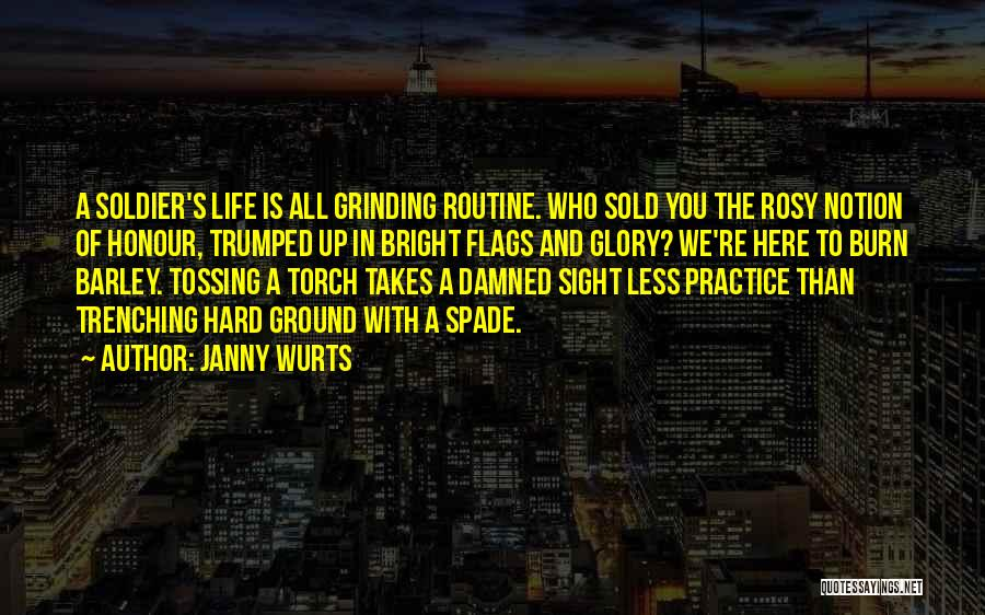 Grinding Quotes By Janny Wurts
