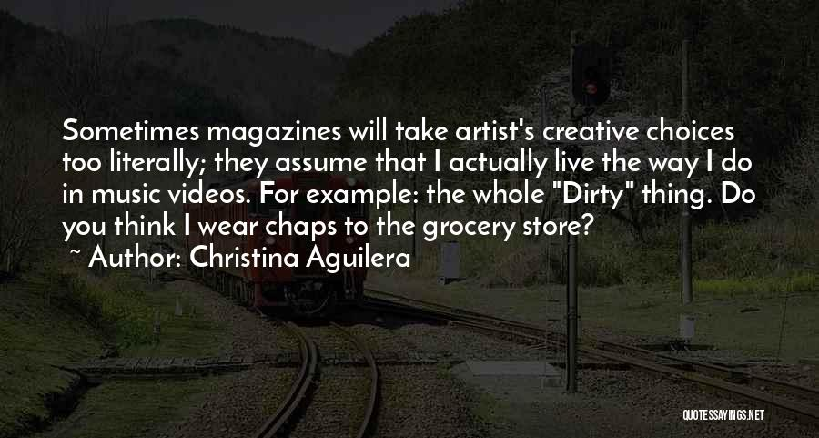 Grocery Quotes By Christina Aguilera