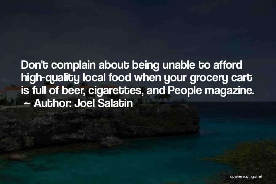 Grocery Quotes By Joel Salatin