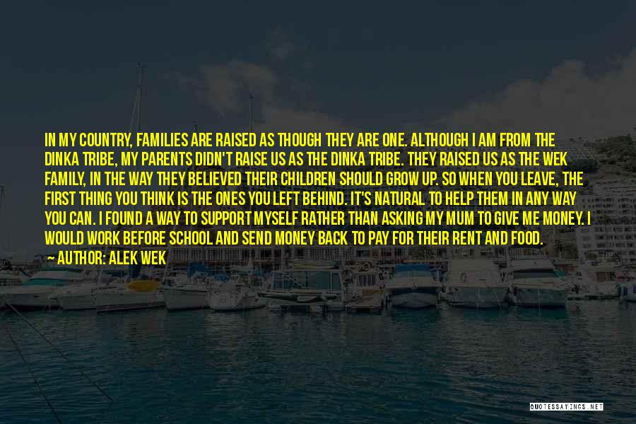 Growing As A Family Quotes By Alek Wek