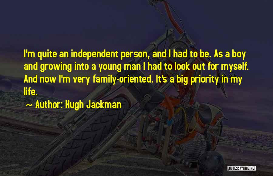 Growing As A Family Quotes By Hugh Jackman