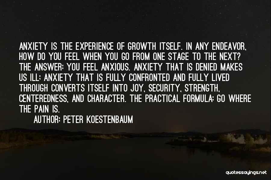 Growth Through Pain Quotes By Peter Koestenbaum