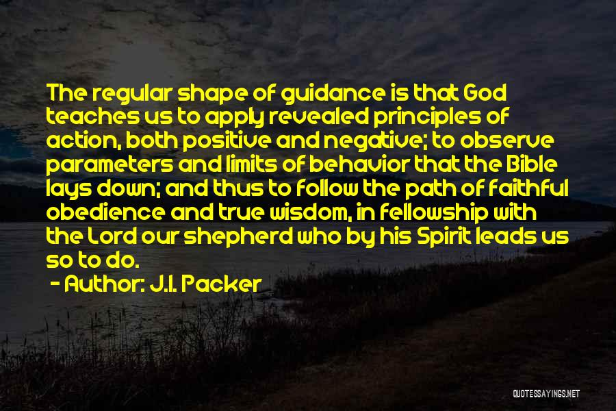 Guidance Of God Quotes By J.I. Packer
