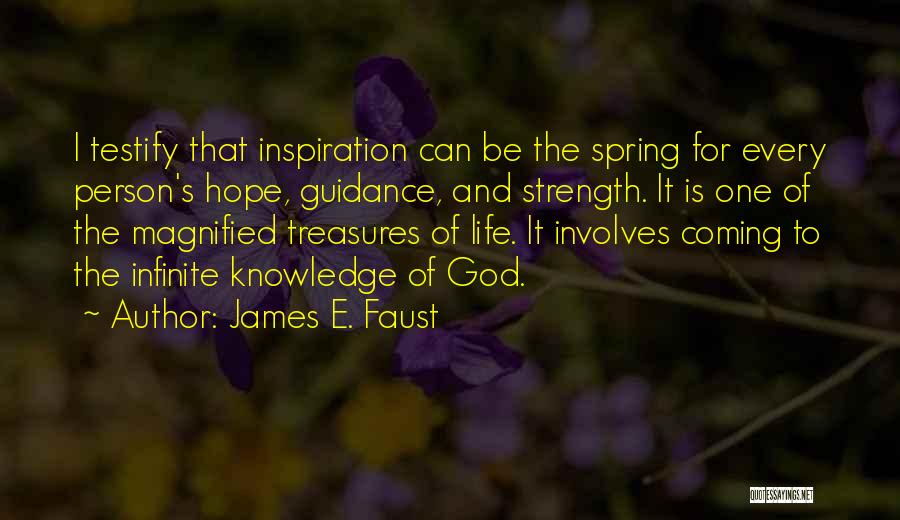 Guidance Of God Quotes By James E. Faust