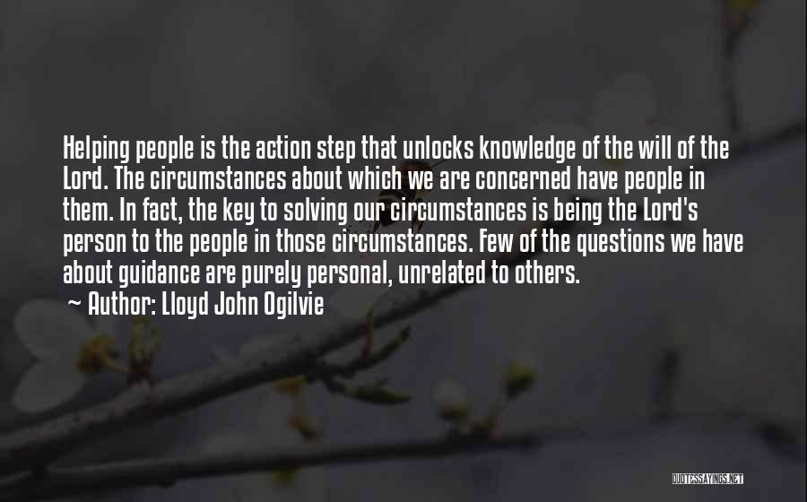 Guidance Of God Quotes By Lloyd John Ogilvie