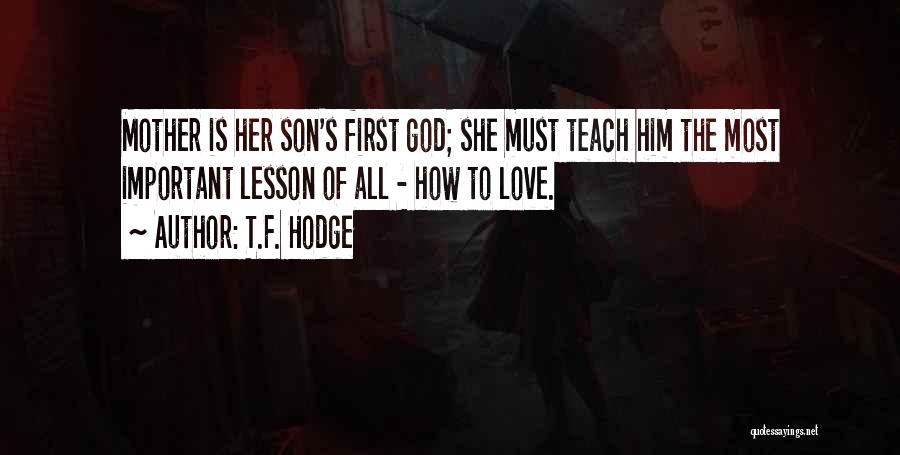 Guidance Of God Quotes By T.F. Hodge