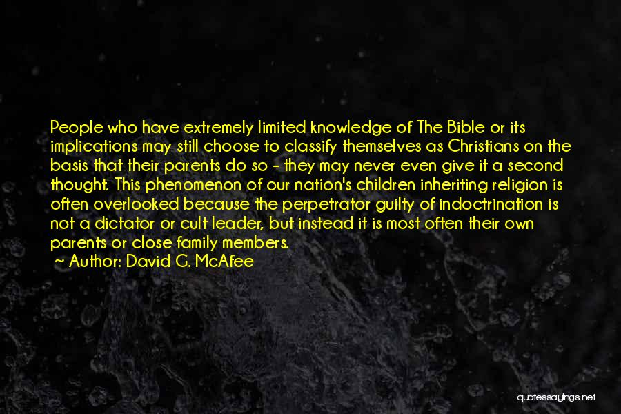 Guilty As A Quotes By David G. McAfee