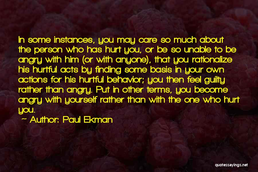 Guilty Person Quotes By Paul Ekman