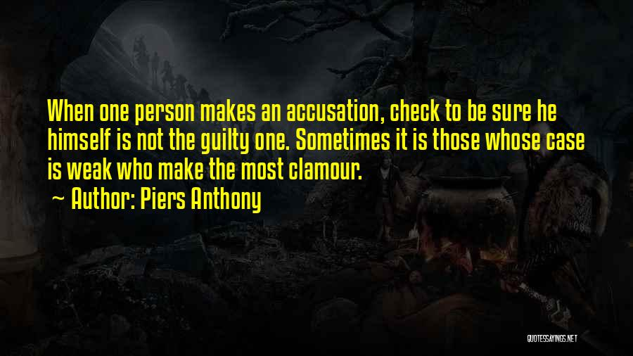 Guilty Person Quotes By Piers Anthony
