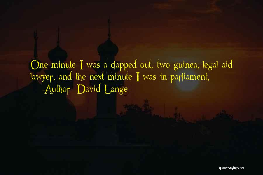 Guinea Quotes By David Lange