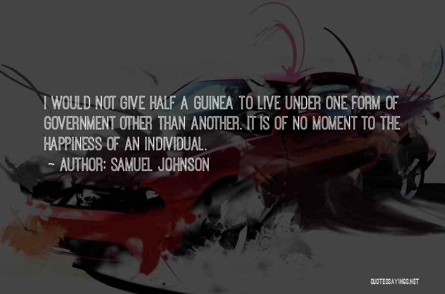 Guinea Quotes By Samuel Johnson