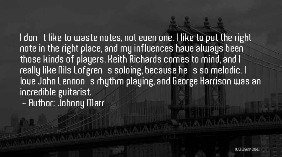 Guitarist Love Quotes By Johnny Marr
