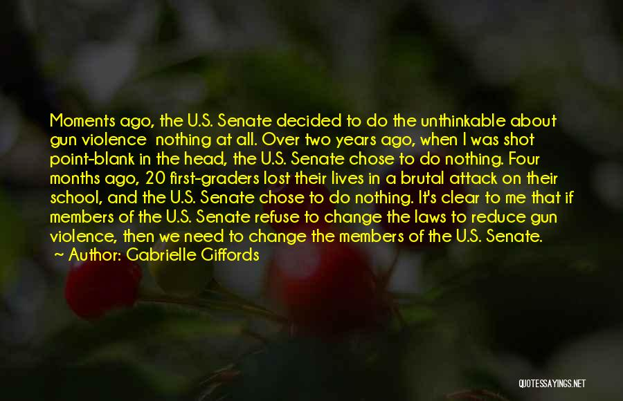 Gun Violence Quotes By Gabrielle Giffords