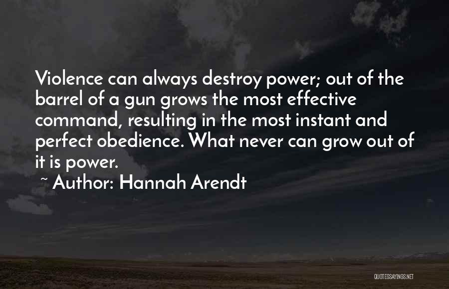 Gun Violence Quotes By Hannah Arendt