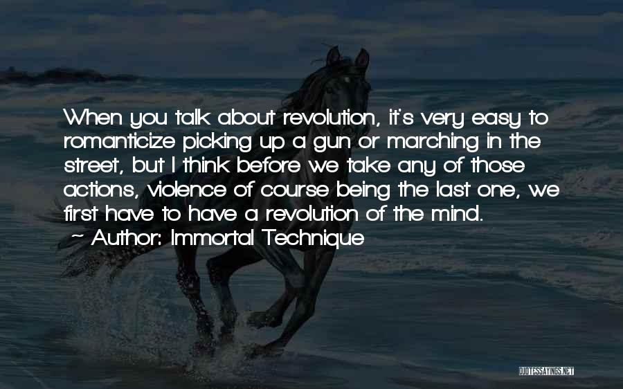 Gun Violence Quotes By Immortal Technique