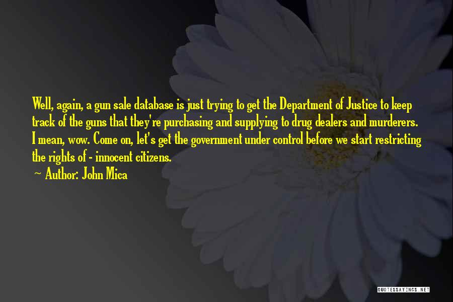 Guns And Government Quotes By John Mica