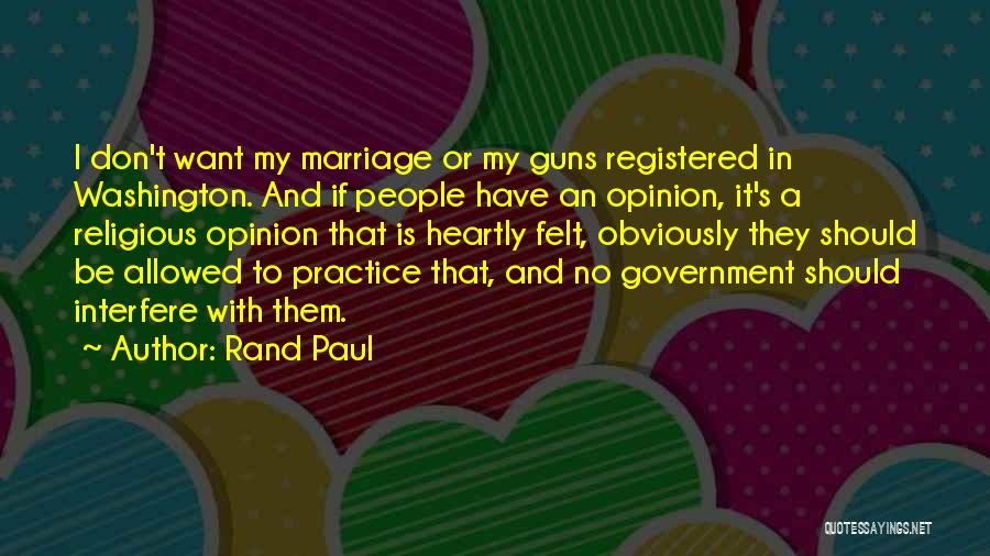 Guns And Government Quotes By Rand Paul