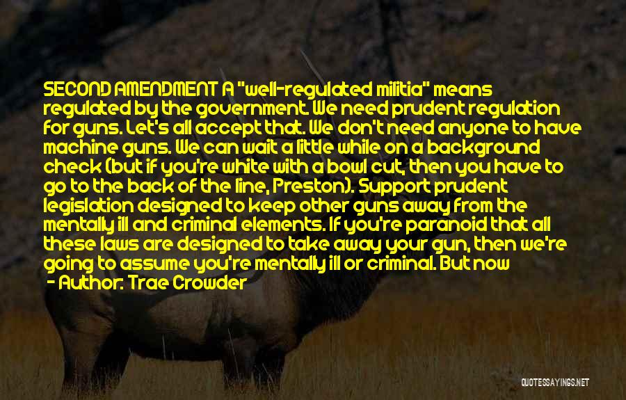Guns And Government Quotes By Trae Crowder
