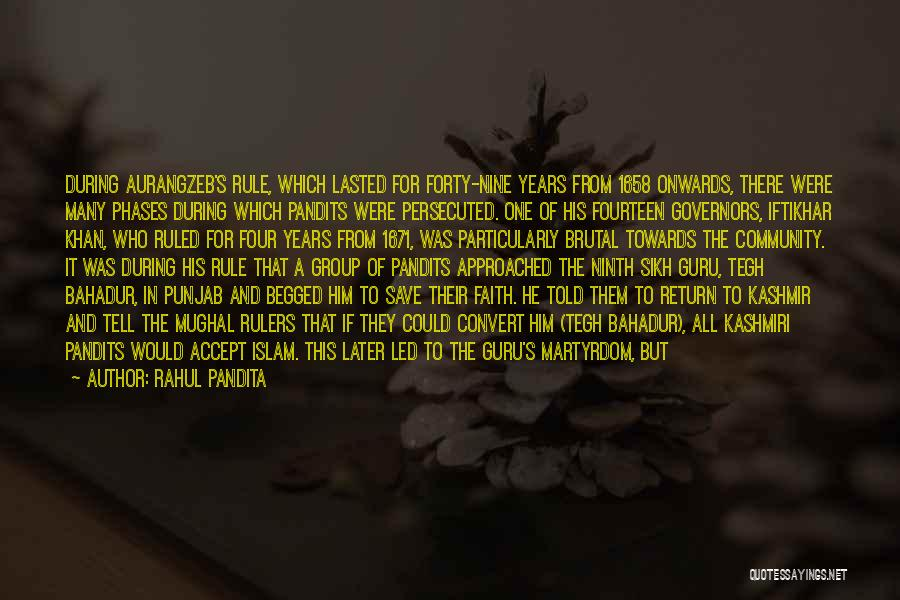 Guru Sikh Quotes By Rahul Pandita