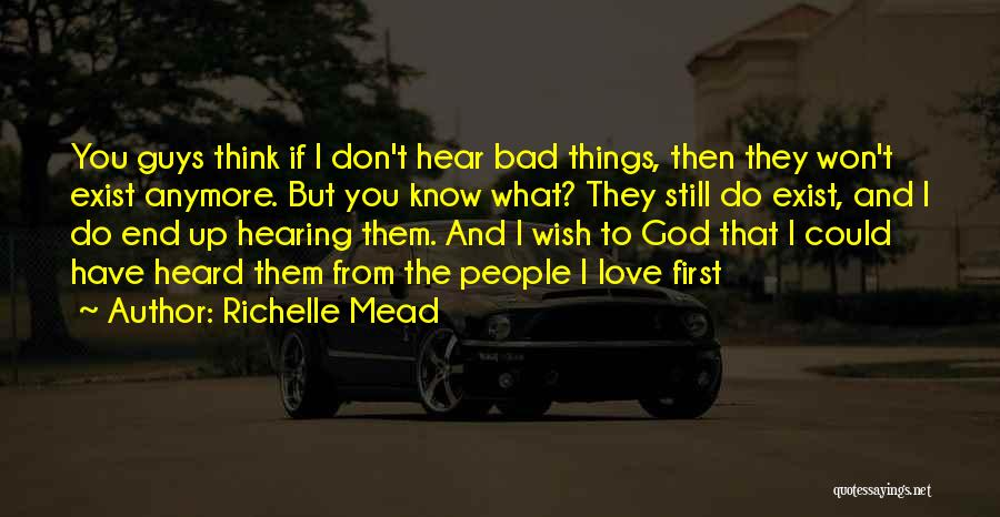 Guys First Love Quotes By Richelle Mead