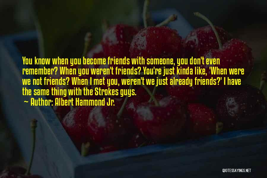 Guys Who Just Want To Be Friends Quotes By Albert Hammond Jr.