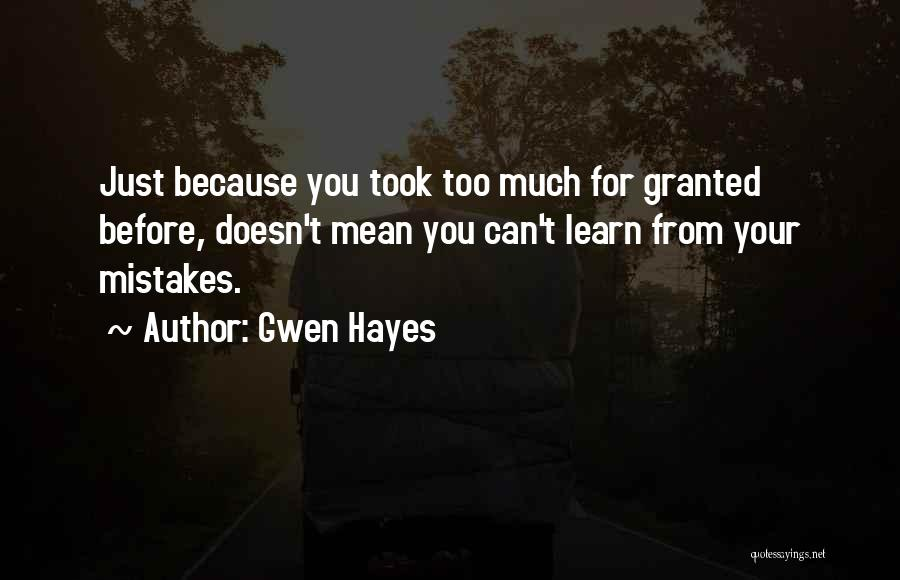 Gwen Hayes Quotes 802665