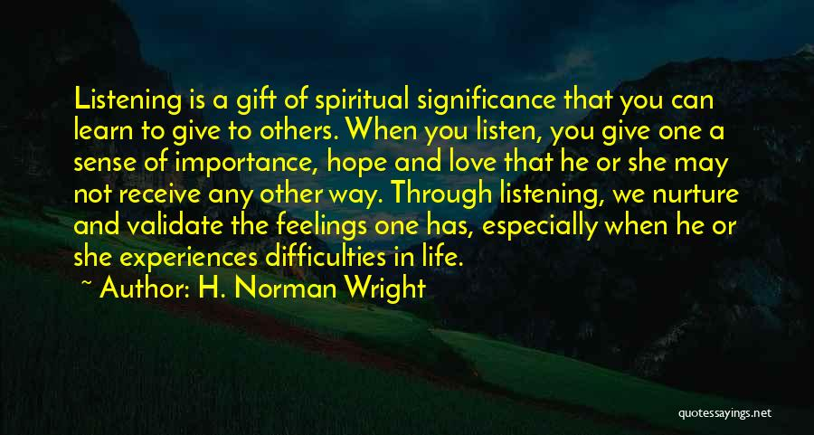H. Norman Wright Quotes 2112100