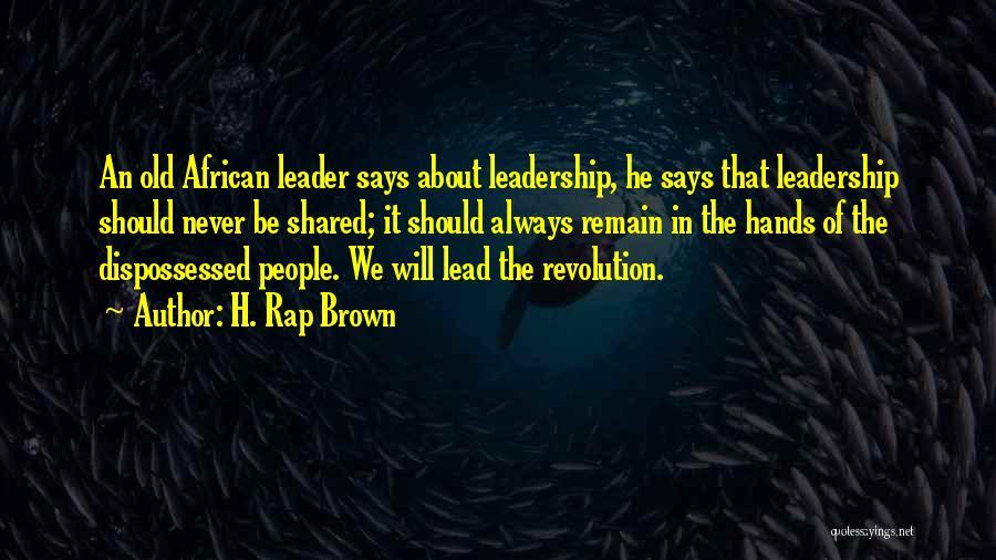H. Rap Brown Quotes 357085