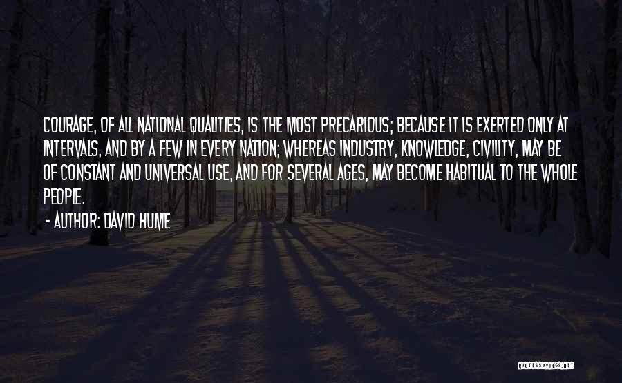 Habitual Quotes By David Hume