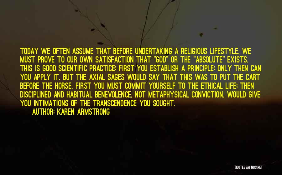 Habitual Quotes By Karen Armstrong