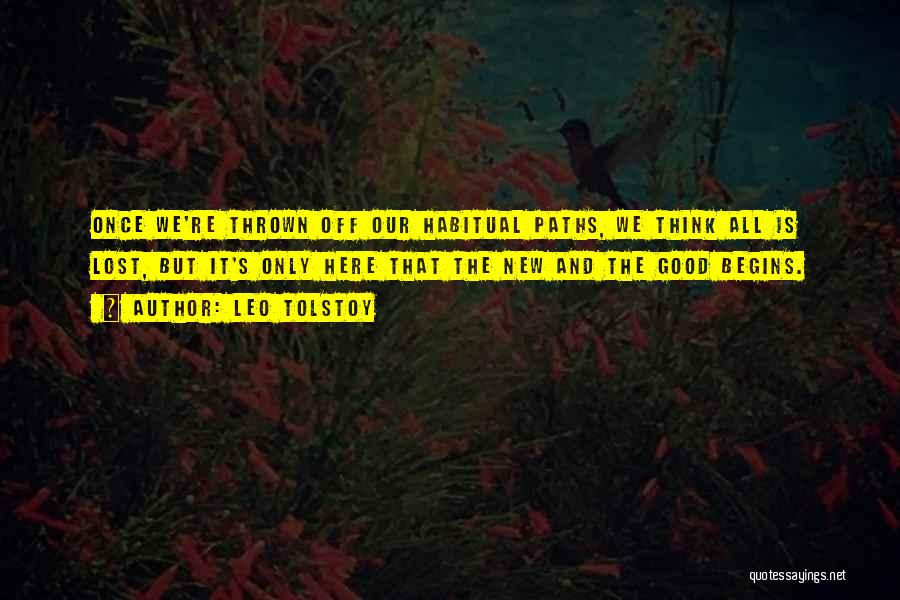 Habitual Quotes By Leo Tolstoy