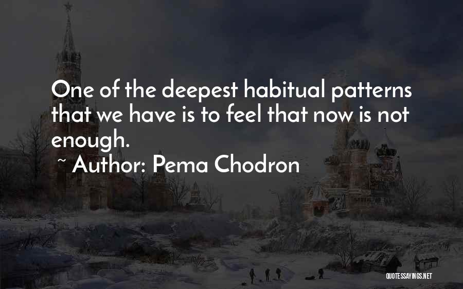 Habitual Quotes By Pema Chodron